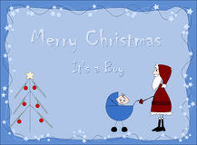 Merry Christmas - It`s a boy. Santa Claus Royalty Free Stock Photo