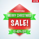 Christmas Sale badge and label Stock Images
