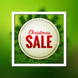 Merry Christmas Sale discount vector card design Stock Photo