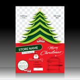 Merry Christmas Sale Flyer & Magazine design template Stock Images