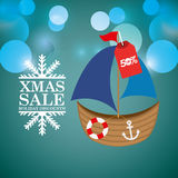 merry christmas sale happy holiday Stock Image