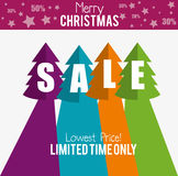 Merry christmas sale limited time only. Vector illustration eps 10 royalty free illustration