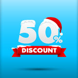 027 Merry Christmas sale 50 percent web tag banner promotion sal Stock Photography