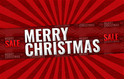 Merry Christmas sale promotion display Royalty Free Stock Photography
