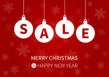 Merry Christmas sale promotion display poster / postcard Royalty Free Stock Photos