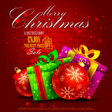 Merry Christmas Sale and Promotion offer banner Royalty Free Stock Photo