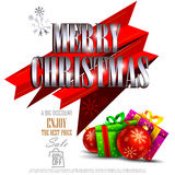 Merry Christmas Sale and Promotion offer banner Stock Images