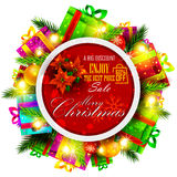 Merry Christmas Sale and Promotion offer banner Stock Photo