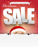 Merry christmas sale text with santa claus vector illustration e. Ps10 003 vector illustration