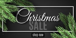 Merry Christmas sale. White frame. Christmas tree. Christmas sale banner. Web banner for your advertising design. Vector illustrat. Ion. EPS 10 stock photos