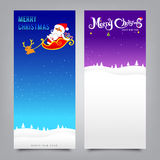 Merry Christmas santa banner collection for greeting card Stock Images