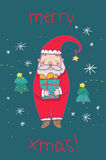Merry christmas santa claus Stock Photo