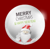 Merry Christmas Santa Claus Badge Stock Photos