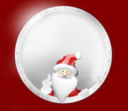 Merry Christmas Santa Claus Badge Royalty Free Stock Photo