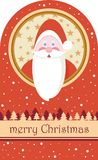 Merry Christmas Santa Claus. Merry Christmas card with a Santa Claus Stock Images