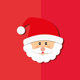 Merry christmas santa claus card Royalty Free Stock Photography