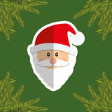 Merry christmas santa claus card Royalty Free Stock Photo