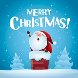 Merry Christmas! Santa Claus is coming. Royalty Free Stock Photos
