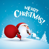 Merry Christmas! Santa Claus is coming. Royalty Free Stock Image