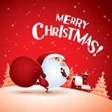Merry Christmas! Santa Claus is coming. Stock Photography