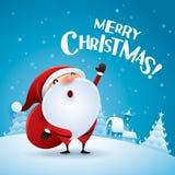 Merry Christmas! Santa Claus is coming. Stock Photos