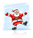 Merry Christmas Santa Claus dancing Royalty Free Stock Image