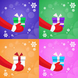 Merry Christmas Santa Claus Hands Hold Gift Box Royalty Free Stock Photos
