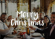 Merry Christmas Santa Claus Happy Concept stock image