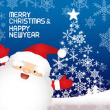 Merry christmas and Santa claus. Merry christmas and happy new year, vector lettring, Santa claus Royalty Free Stock Photos