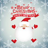 Merry christmas and Santa claus. Merry christmas and happy new year, vector lettring, Santa claus Royalty Free Stock Photography