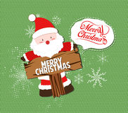 Merry Christmas with santa claus illustrations Stock Photo