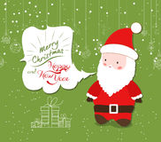 Merry Christmas with santa claus illustrations Stock Photography