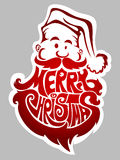 Merry Christmas. Santa Claus label Stock Photography
