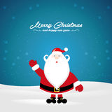 Merry Christmas from Santa Claus Stock Images