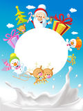 Merry Christmas  - with Santa Claus Sleigh Stock Photo