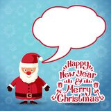 Merry christmas Santa Claus with speech bubble for. Merry christmas Santa Claus with speech bubble. Vector Royalty Free Stock Photography