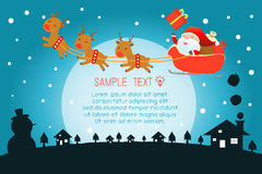 Merry Christmas, Santa Claus,Template for advertising brochure,your tex Royalty Free Stock Photos
