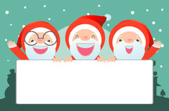 Merry Christmas, Santa Claus,Template for advertising brochure,your text  Royalty Free Stock Photo