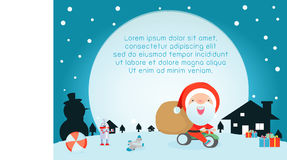 Merry Christmas, Santa Claus,Template for advertising brochure,your text  Royalty Free Stock Image