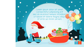 Merry Christmas, Santa Claus,Template for advertising brochure,your text Royalty Free Stock Images