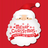 Merry christmas and Santa claus, Xmas card. Merry christmas and happy new year, vector lettring, Santa claus, Xmas card Royalty Free Stock Photography