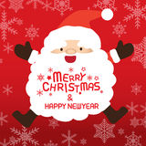 Merry christmas and Santa claus, Xmas card. Merry christmas and happy new year, vector lettring, Santa claus, Xmas card Royalty Free Stock Images