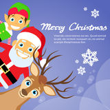 Merry Christmas Santa Clause Reindeer Elf Royalty Free Stock Image