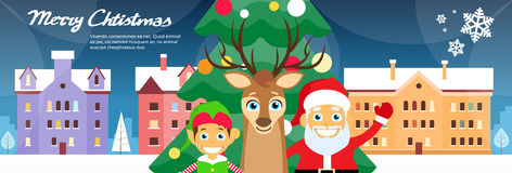 Merry Christmas Santa Clause Reindeer Elf Stock Photography