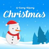 Merry Christmas with Santa greeting card. Vector illustration Royalty Free Stock Image
