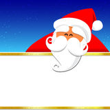 024-Merry Christmas santa and night background 004. Christmas santa with blank space on the night background, vector illustration Stock Photography