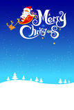 023-Merry Christmas santa and night background 003 Stock Images