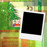 Merry Christmas Santa photo frame Stock Photography