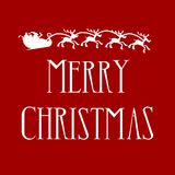 Merry Christmas with Santa and reindeers royalty free illustration