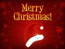 Merry Christmas santa's cap Royalty Free Stock Image
